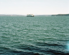 Here comes the ferry (Kent C.) Tags: mamiyarb67pros film filmphotography kodakfilm kodakportra160 120film