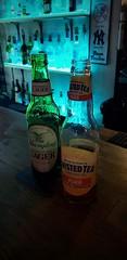 Hump Day Drinks (SurFeRGiRL30) Tags: adultbeverages twistedtea beer bar drinks bottles blue coollights lights dark alcohol