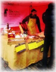 'Iberia Delights ' Meats, cheeses etc .. (John(cardwellpix)) Tags: iberiadelightsmeats cheesesetc once monthly farmers food producers high street market november ~ guildford surrey 6743
