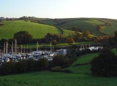 Sunlight and shadows (Phil Gayton) Tags: water grass field tree hedge boat baltic wharf boatyard home reach river dart longmarsh totnes devon uk