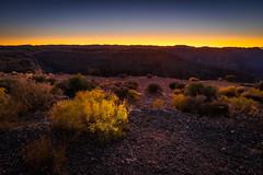 Light Bloom (bitchan) Tags: usa desert arizona dusk sunset canyon arid orange landscape outdoor nature