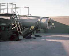 Fort Casey disappearing gun low (Kent C.) Tags: mamiyarb67pros film filmphotography kodakfilm kodakportra160 120film