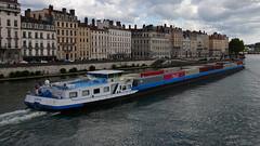 Le Camaël, porte-conteneur de 135 m en direction de Perrache (Sam Photos with Sony native jpeg) Tags: bateau river saône lyon fleuve