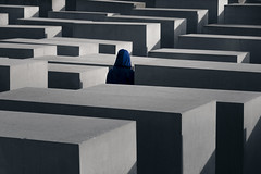 Famous Blue Raincoat (Andrew G Robertson) Tags: holocaust memorial berlin germany murdered jews europe jewish