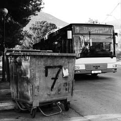 Αδειάζουμε στο 7 και συνεχίζουμε με το 1 ~ Our garbage to 7 and move on with 1 (Argyro Poursanidou) Tags: garbage trash can public transportation protect planet earth μέσαμαζικήσμεταφοράσ λεωφορείο προστασία πλανήτησ γη κάδοσαπορριμμάτων