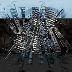 Architectural bouquet (Jutta Vollmer) Tags: london canarywharf tube layers digitalart