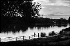 Ukraine Tchernihiv (vzotov.doc) Tags: ukraine tchernihiv fujifilm xt1 xf35mmf14 r vladimir zotov lake water landscape monochrome people