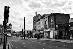 Kentish Noir (marc.barrot) Tags: x100f monochrome urbanlandscape uk nw5 london kentishtown highgateroad