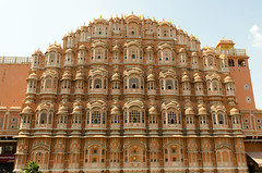 Hawa Mahal (Jaipur) (My Wave Pics) Tags: jaipur india building landmark travel architecture tourism palace indian asia famous rajasthan hawa old city mahal historic asian pink traditional culture winds destination tourist art facade town mughal ancient historical attraction dome monument illustration exterior red vector wind stone view sky sightseeing background history night beautiful hawamahal design vintage