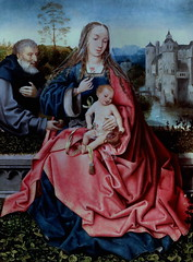 IMG_3317 Maître de Francfort 1460-1533 Anvers La Sainte Famille The Holy Family 1508 Madrid Musée Thyssen Bornemisza