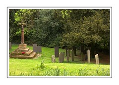 Peace and quiet (Audrey A Jackson) Tags: canon60d hints staffordshire churchyard gravestones cross history peaceful memories trees grass
