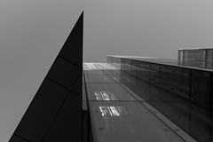 DSC_9433  skyline - b&w architecture photography (Filip Patock) Tags: skyline building architecture abstraction abstract artistic art blackwhite bw black white geometry geometric glass urban manchester nikond3200 photography perspective