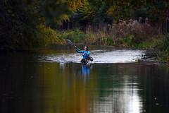 Basingstoke Canal Ash - Ash Vale 3 November 2019 029 (paul_appleyard) Tags: basingstoke canal reflections water ash surrey november 2019 canoe