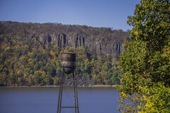 Water Tower (JMS2) Tags: scenic watertower hudsonriver palisades cliffs autumn foliage nature hudsonvalley hastings