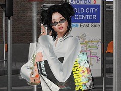 East Side (Tympany) Tags: bus beunique letre coco magika rebelgal unique genus classicface busstop fakeicon wearh0use glitterposes nutmeg mug populargirls gacha shades olivia shineeyes brokenprincess evermore shojomanga groceries shopping transit map go maitreya cx victoria magazine smoke cigarette ravenhair blackhair secondlife sl avatar bento
