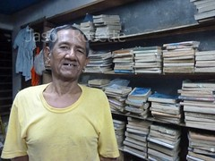 Portrait of Used Book Shop Owner, Rangoon (horizontal)