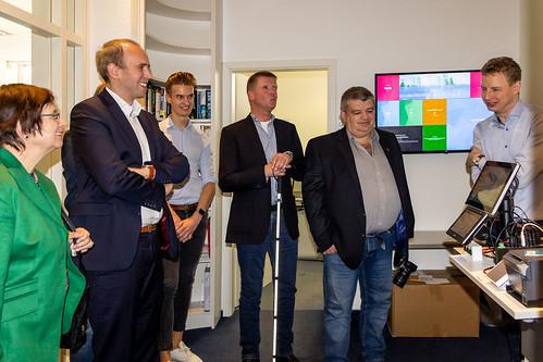 Besuch der Firma AMCON in Cloppenburg, die Software für den ÖPNV produziert.