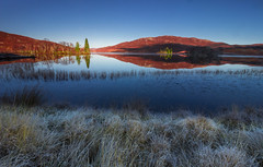 Loch Tarff (snowyturner) Tags: loch tarrf inverness scotland highlands lake reflections landscape clear autumn frost grass mountains