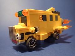 Octopus in the neighbourhood?! (Pixelstache) Tags: themagicschoolbus lego bus