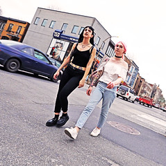 New Look (kirstiecat) Tags: montreal canda quebec style women beautiful streetstyle street canon tattoos
