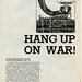 Hang up on War flyer: 1968