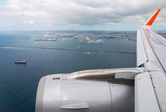 JA22JJ Jetstar Japan A320 (twomphotos) Tags: roah airport jetstar japan airbus a320 ja22jj departure wing view harbour inflightimpressions
