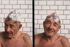 grandpa. offside2019. polonne. (Yaroslav F.) Tags: portrait 35mm beauty dyptich glass halfframe half frame smile yaroslav futymskyi life lifestyle newspaper