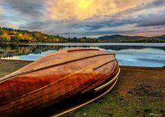 Resting Quietly (James Korringa) Tags: scenic lake canoe clouds fall autumn newyork