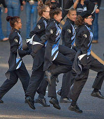 Having Fun (Scott 97006) Tags: uniforms girls squad parade jump