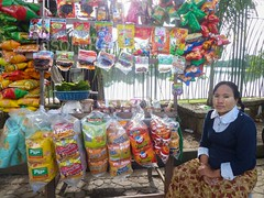 Snacks Seller, Downtown Yangon, Burma