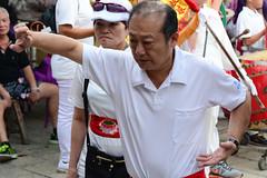 Kung Fu Postures (Bob Hawley) Tags: asia chiayicounty taiwan nikond7100 nikon28105mmf3545afd people religion taoism buddhism ceremonies fanlutownship bantianyanziyuntemple worshipping flags drums kungfu taiwanesemen