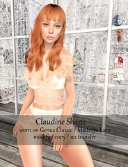[B] Claudine Shape (Ruby°von°Hinten) Tags: new release female woman shape shapes b bodylicious red hair freckles sl second life secondlife slfashion shop out now