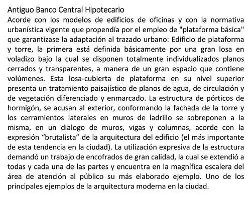 Antiguo Banco Central Hipotecario, Reseña