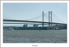 Bridges And An Aircraft Carrier (flatfoot471) Tags: 2019 normal scotland unitedkingdom ships military royalnavy april riverforth queensferry hmsqueenelizabeth aircraftcarrier tugs southqueensferry forthroadbrige queensferrycrossing 70300canon fife westlothian