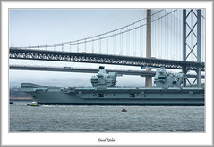 HMS Queen Elizabeth & Forth Bridges (flatfoot471) Tags: 2019 normal scotland unitedkingdom ships military royalnavy april riverforth queensferry hmsqueenelizabeth aircraftcarrier tugs southqueensferry forthroadbrige queensferrycrossing 150600sigma fife westlothian