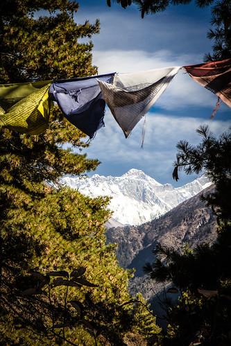 Vue sur l'Everest (8848m)