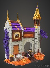 Fortress of the Harvest (jaapxaap) Tags: vignweek rebellug castle harvest autumn fortress medieval fantasy moc by jaapxaap contast entry orange brown purple