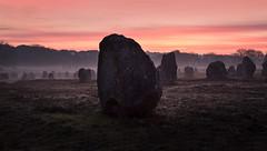 Carnac (Faouic) Tags: france bretagne morbihan carnac alignements préhistoire menhirs brume leverdesoleil