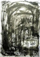 Dark hours (LaDryadaJessica) Tags: ladryadajessica art artdryadique dryadicart peinture painting dark noir black artmoderne modernart