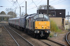 37800 at Morpeth (stephen.lewins (1,000 000 UP !)) Tags: cassiopeia class37 37800 ukr railways ecml morpeth northumberland tractors