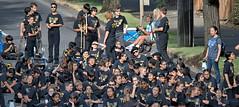 A Waiting School Band (Scott 97006) Tags: kids band uniforms waiting street instruments musicians