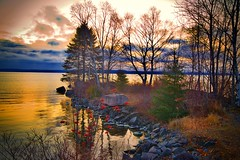 Silver Harbor Sunrise (WTW Pics) Tags: greatlakes lakesuperior silverharbor thunderbay ontario water colors colorful beautiful beauty waterfront shoreline canon5dmkii