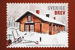 Järle station, frimärke (Michael Erhardsson) Tags: järle frimärke 2019 nbvj stationshus