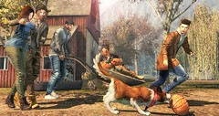 Journey between friends. (L'Homme Magazine SL November 2019) 🐾🍂🍁 (brian.werefox) Tags: findyours hive lhomme magazine secondlife avatars friendship autumn moments journey dogs coldash notsobad jian