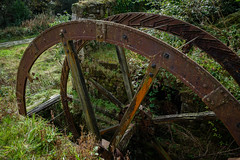Waterwheel, Wheal Alfred China Stone Mill, Tregargus (Rogpow) Tags: cornwall industrial ststephen chinaclay tregargusvalley whealalfred abandoned decay disused derelict dilapidated chinastone chinastonemill ruin industrialarchaeology industrialhistory fujixpro2