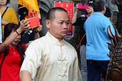 Game Face (Bob Hawley) Tags: asia chiayicounty taiwan nikond7100 nikon28105mmf3545afd people religion taoism buddhism ceremonies fanlutownship bantianyanziyuntemple worshipping taiwanesemen