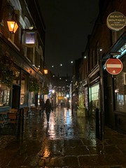 Rainy Flask Walk (marc.barrot) Tags: shotoniphone night urbanlandscape streetphotography nightphotography uk nw3 london hampstead flaskwalk