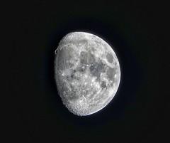Waxing moon (79 %) (ruedigerdr49) Tags: moon planet nature mond sky himmel
