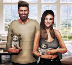 [ 📷 - 156 ] (insociable.sl) Tags: bear boy woman pet man cute male love girl animal female cat girlfriend couple kitty sl secondlife bae companion edit magnificient etham beard