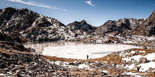 Lac gelé au col de Laurebina
